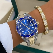 Rolex 2021 Submariner Date - stal szlachetna i żółte złoto. Niebieski elementy