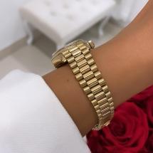 Rolex Lady Datejust 26 - President - złoto 18k i brylanty