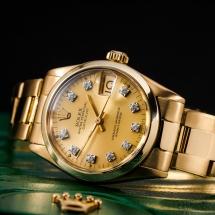Rolex Datejust 31 - żółte złoto pr.750 . Brylanty w białym złocie !
