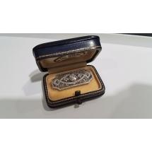 Stara broszka FILIGRANY 0.75ct River - Najbielszy