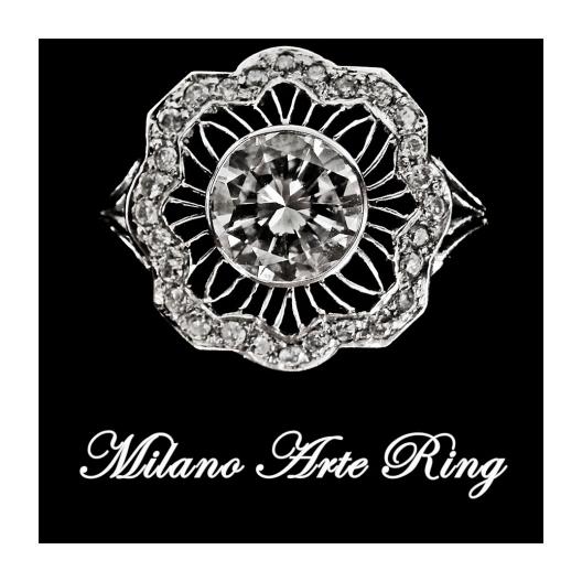 Milano Platinum Ring