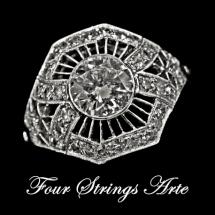 Four Strings Arte Platinum Ring