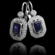 Art Deco Emerald Time Earrings