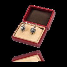 Stare kolczyki z diamentami oraz rautami diamentowymi