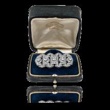 Broszka w stylu Art Deco z diamentami ~2,25ct wykonana ze złota