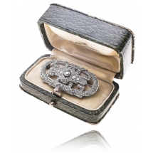 Brosza z diamentami wykonana w złocie 0.750