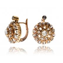 Kolczyki z diamentami wykonane ze złota 0.750
