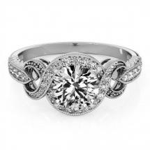 pierścionek z brylantem zareczynowy 1ct