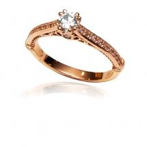 Pierścionek rozowe zloto whiteluxury różowe złoto