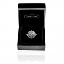 MM Art Deco pierścionek platynowy