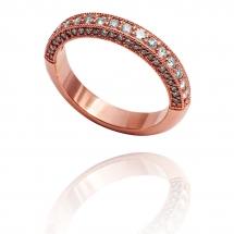 Luxury Sides pierścionek z różowego złota