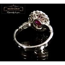 Blood Red Diamond Ring