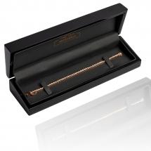 Bransoletka wykonana z różowego złota 18K z brylantami