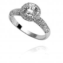 Pierścionki zaręczynowe gwiazd - pierścionek z brylantem zareczynowy