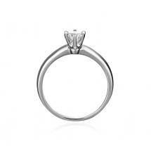 Pierścionek zaręczynowy z brylantem styl tiffany