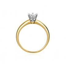 Pierścionek zaręczynowy z brylantem Tiffany