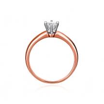 Pierścionek zaręczynowy z brylantem różowe złoto