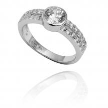 Pierścionek zaręczynowy z brylantem whiteluxury 706