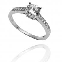 @goldkinga Pierścionek zaręczynowy z brylantem whiteluxury 719
