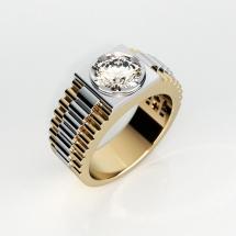 Sygnet wykonany ze złota z brylantem 2.00ct