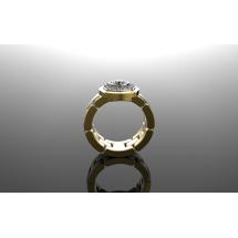 Złoty sygnet z brylantem ~0.70ct