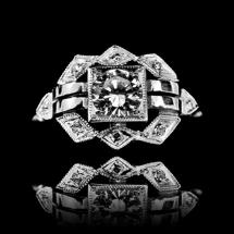 pierścionek art deco jubiler warszawa