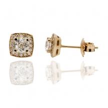 Kolczyki z diamentami ~1.30ct wykonane ze złota