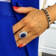 Pierścionek z szafirem 12.50ct BlueSapphire