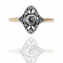 Pierścionek z diamentami ~1.11ct wykonany ze złota