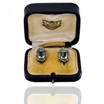Dawne kolczyki z diamentami ~0.85ct, Wiedeń ~1930r