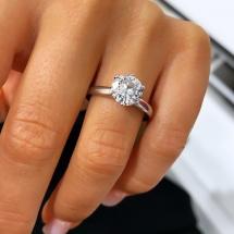 Złoty pierścionek z brylantem 1.61ct wzór w stylu Tiffany & Co
