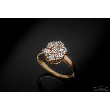 Dawny pierścionek z diamentami ~1.10ct - karmazycja