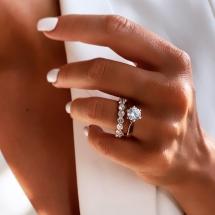 Pierścionek zaręczynowy z brylantem 1.00ct
