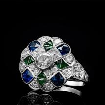 Platynowy pierścionek Art Deco