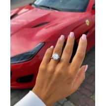 Platynowy pierścionek z brylantem 5.02ct