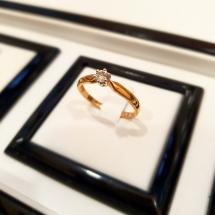 Złoty Pierścionek z Brylantem ~ 0.11ct