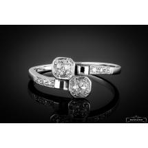 Dawny pierścionek z diamentami 1920-1930r