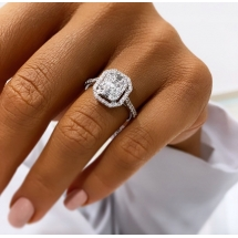 Pierścionek INVISIBLE diamenty Julia Wieniawa Biżuteria