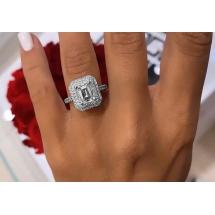Pierścionek z diamentem 2.03ct Emerald cut